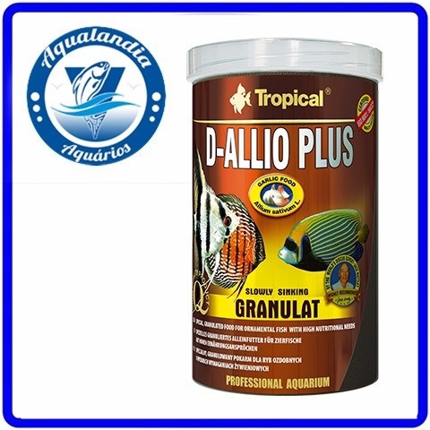 Ração D-allio Plus Granulat 600g Tropical
