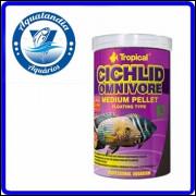 Ração Cichlid Omnivore Medium 360g Tropical
