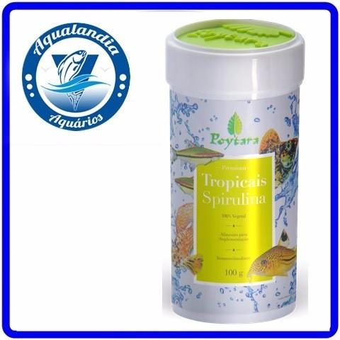 Ração P/ Peixes Tropicais Spirlina 100grs Para Peixes