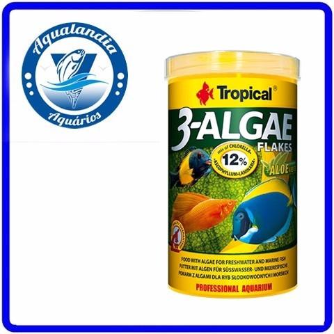 Ração 3-algae Flakes 50g Tropical