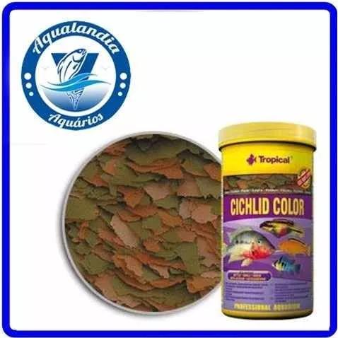 Ração Cichlid Color 130g Tropical