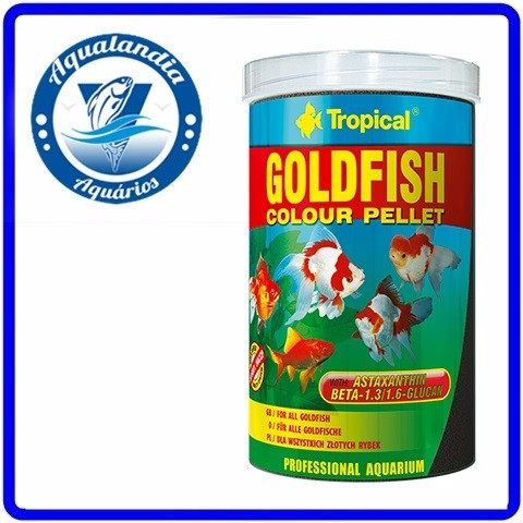 Ração Goldfish Colour Pellet 36g Tropical