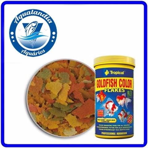 Ração Goldfish Colour Flakes 110g Tropical