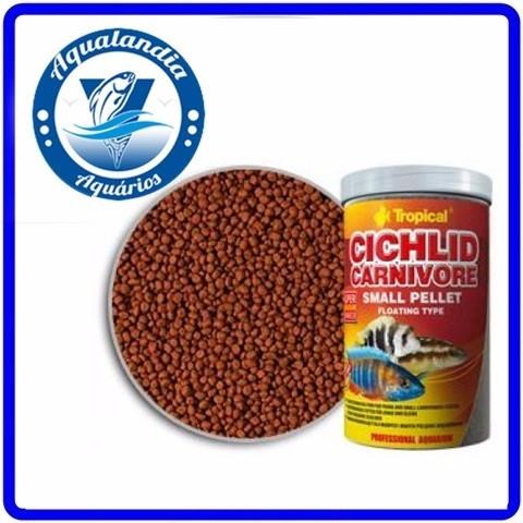 Ração Cichlid Carnivore Small Pellet 360g Tropical