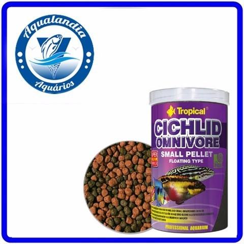 Ração Cichlid Omnivore Small Pellet 90g Tropical