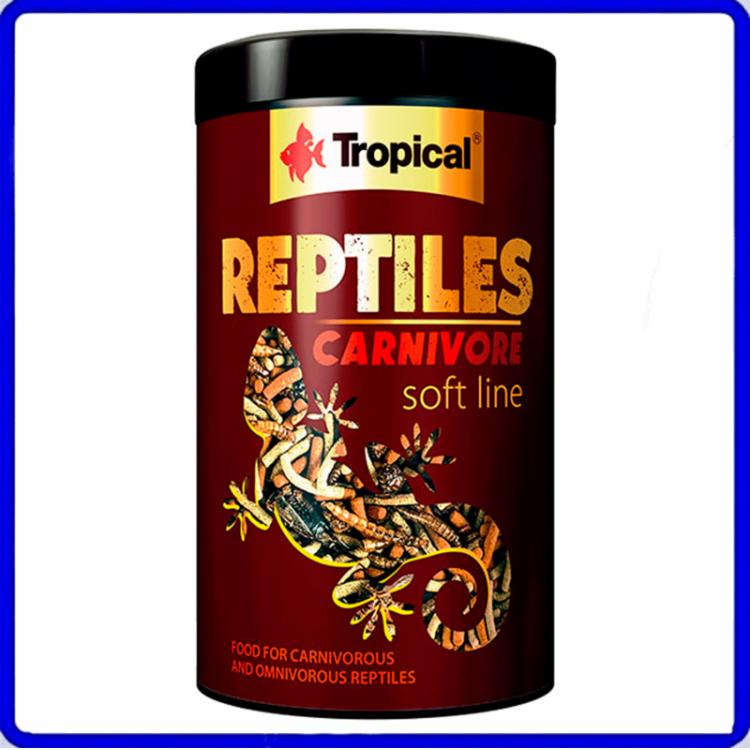 Tropical Ração Soft Line Reptiles Carnivore 65g