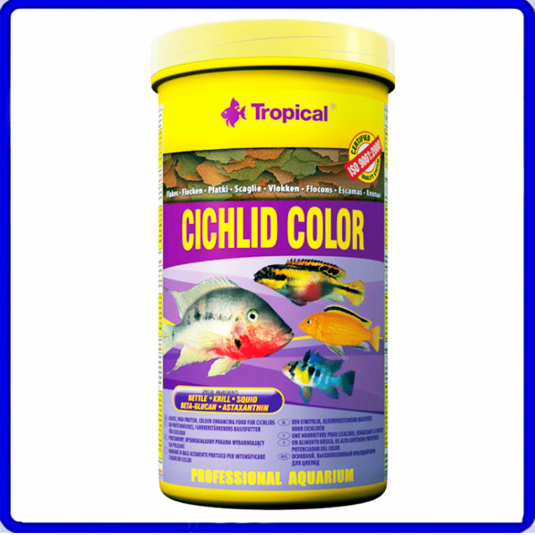Tropical Ração Cichlid Color 20g