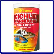 Tropical Ração Cichlid Carnivore Small Pellet 360g