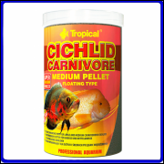 Tropical Ração Cichlid Carnivore Medium Pellet 360g