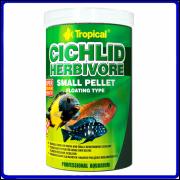 Tropical Ração Cichlid Herbivore Small Pellet 360g