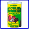 Tropical Ração Cichlid Spirulina Medium Sticks 360g