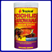 Tropical Ração Cichlid & Arowana Medium sticks 360g