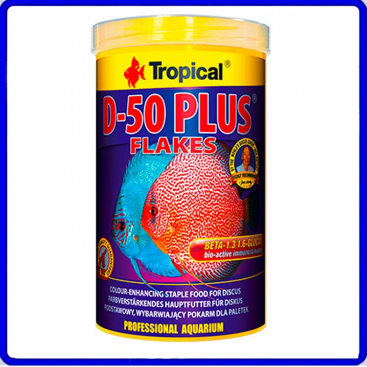 Tropical Ração D-50 Plus Flakes 50g