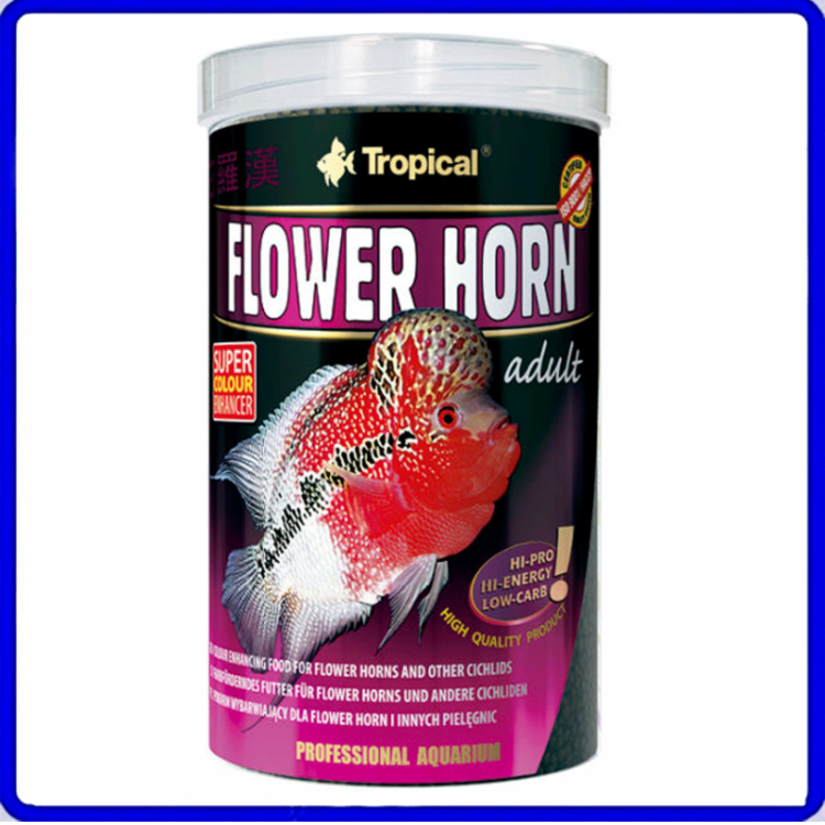 Tropical Ração Flower Horn Adult Pellet 380g