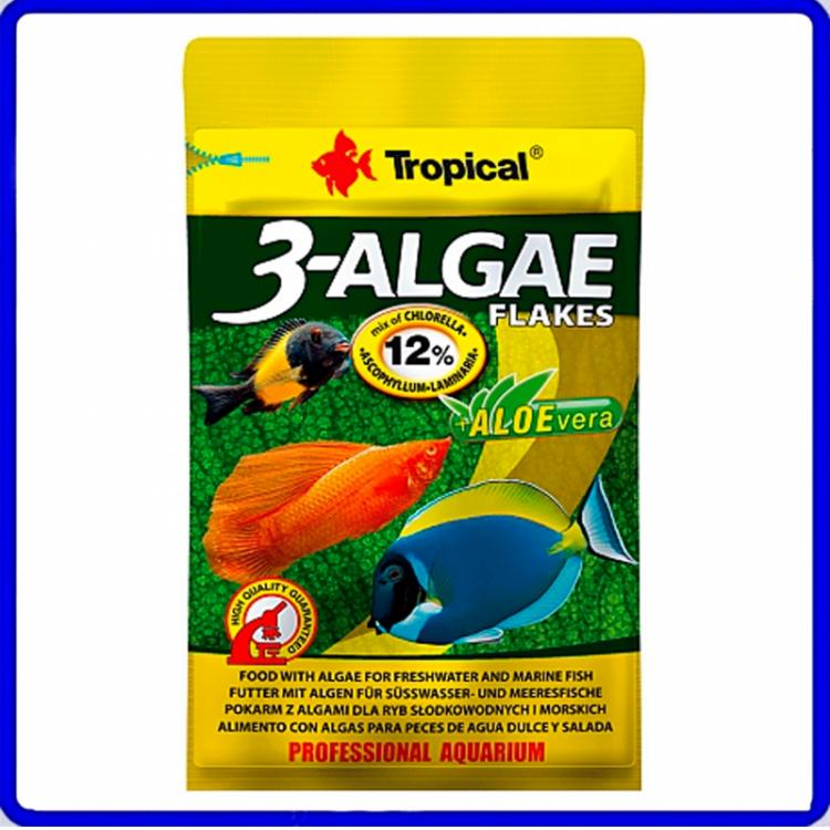 Tropical Ração 3-Algae Flakes 12g Sache