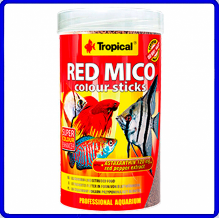Tropical Ração Red Mico Colour Sticks 32g