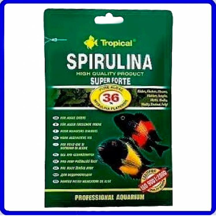 Tropical Ração Super Spirulina Forte Flakes 12g Sache