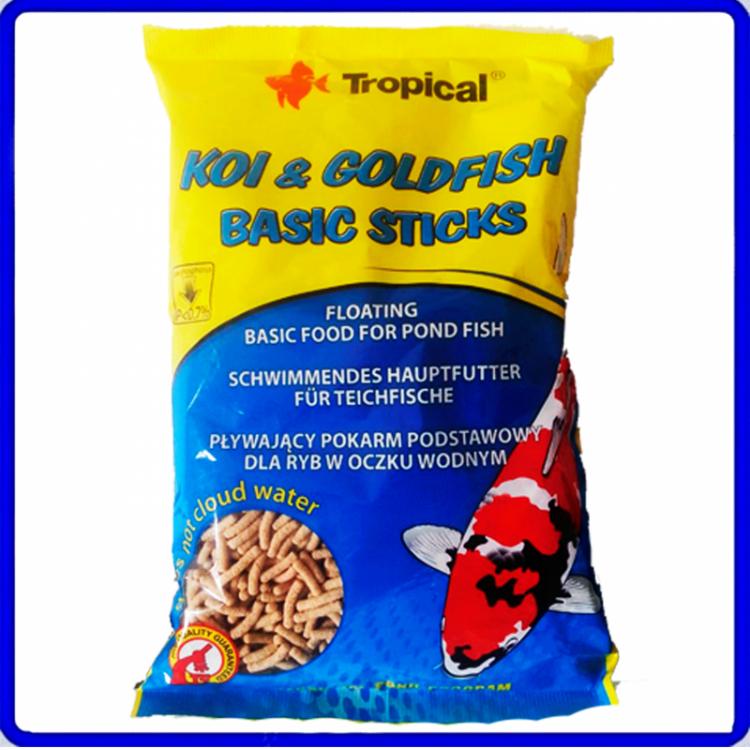 Tropical Ração Koi & Goldfish Basic Sticks 90g