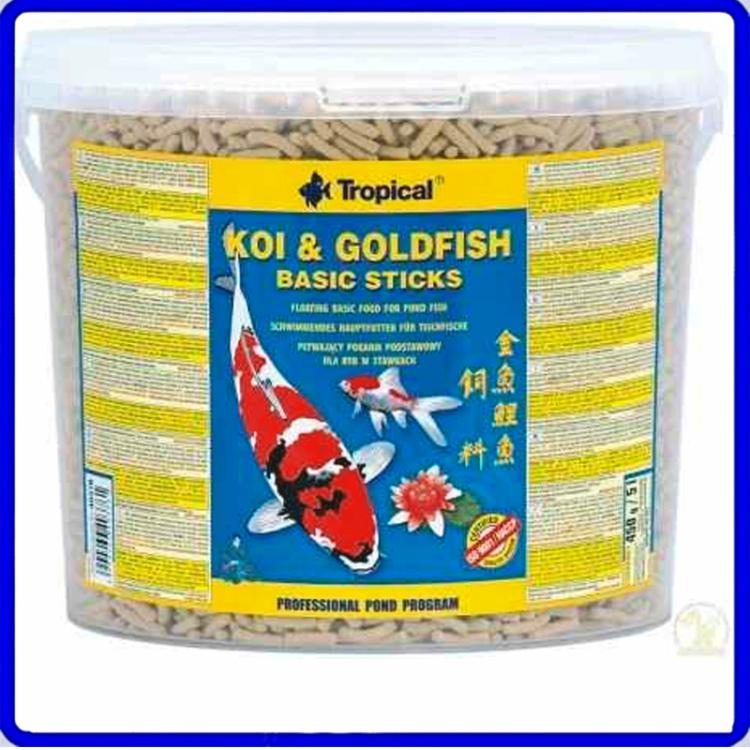 Tropical Ração Koi & Goldfish Basic Sticks 1,5Kg