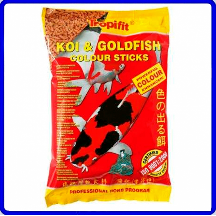 Tropical Ração Koi & Goldfish Colour Sticks 90g