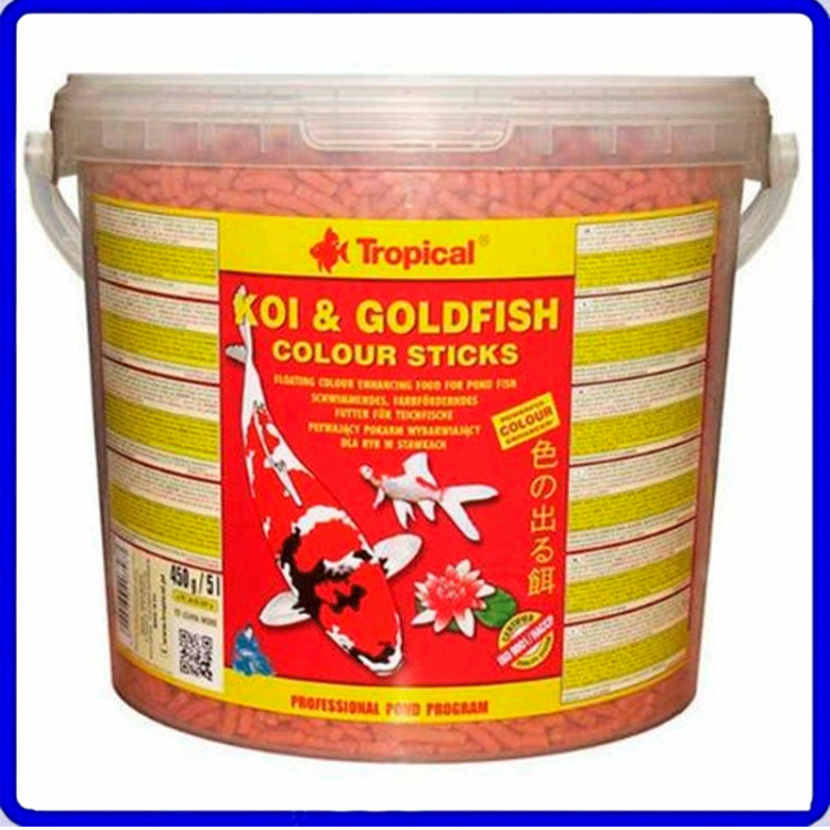 Tropical Ração Koi & Goldfish Colour Sticks 900g