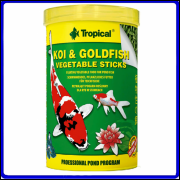 Tropical Ração Koi & Goldfish Vegetable Sticks 85g