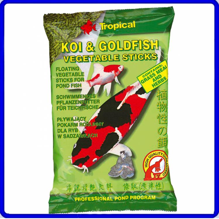 Tropical Ração Koi & Goldfish Vegetable Sticks 90g
