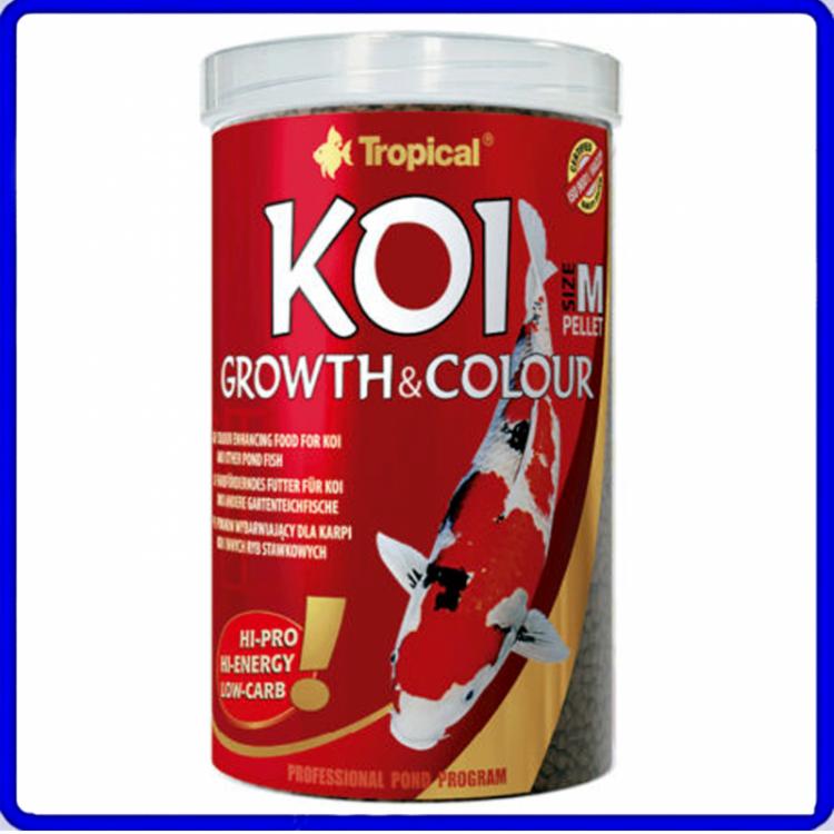 Tropical Ração Koi Growth & Colour Medium Pellet 350g