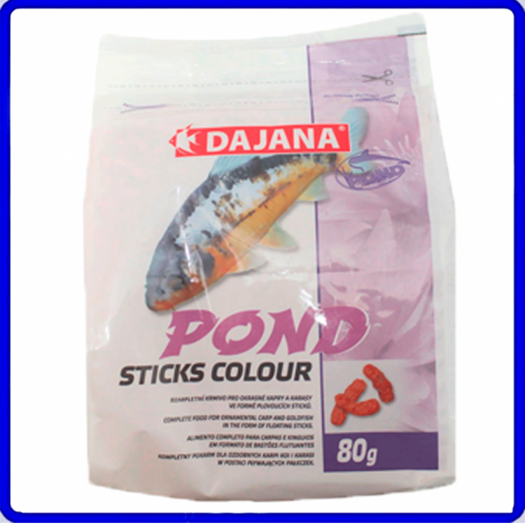 Dajana Ração Pond Sticks Colour 80g