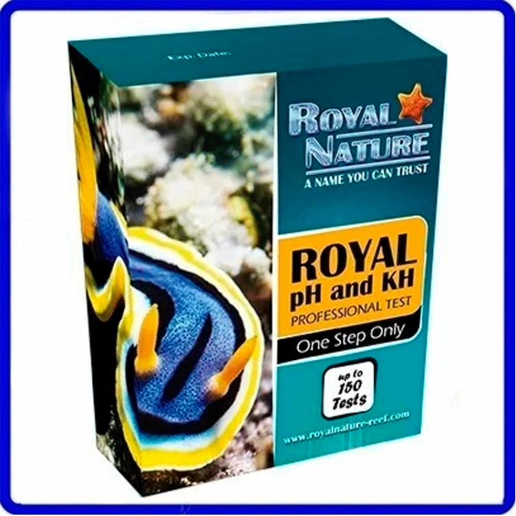 Teste Marinho De Ph e Kh Royal Nature 150 Testes