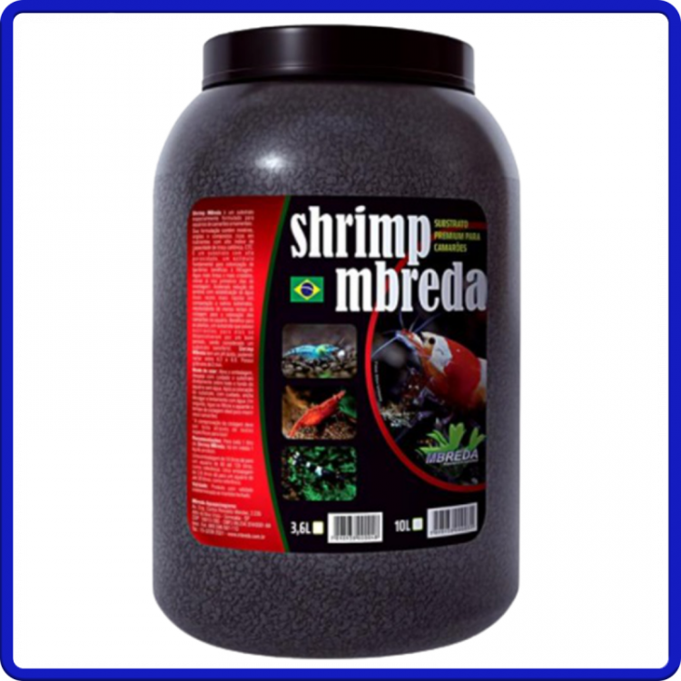 Mbreda Substrato Shrimp Camaroes 3,6L