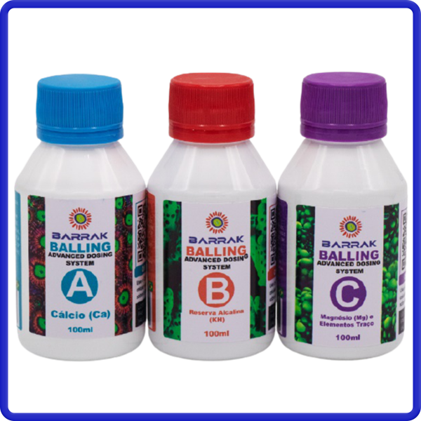 Barrak Balling Advanced Nano 100ml Kit Ca Mg Kh